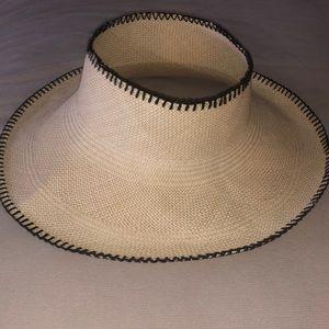 Anthropologie Carolina Amato Open crown woven hat